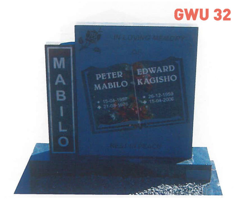 GWU 32 Tombstone   Jeudfra Funeral Services in Upington