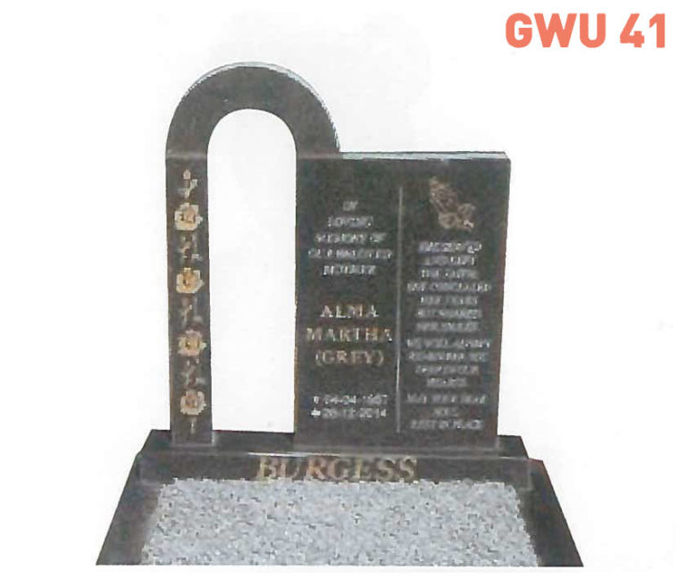 GWU 41 Tombstone   Jeudfra Funeral Services in Upington