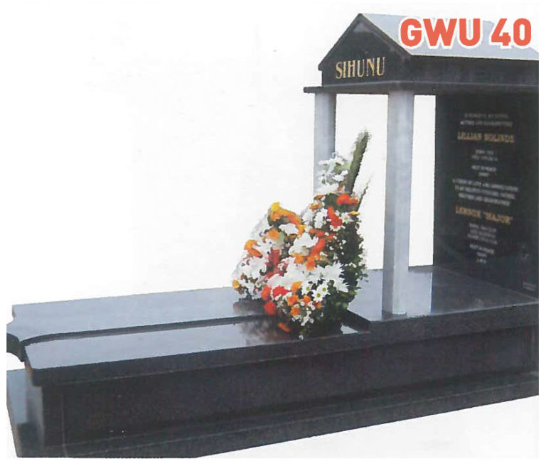 GWU 40 Tombstone | Jeudfra Funeral Services in Upington