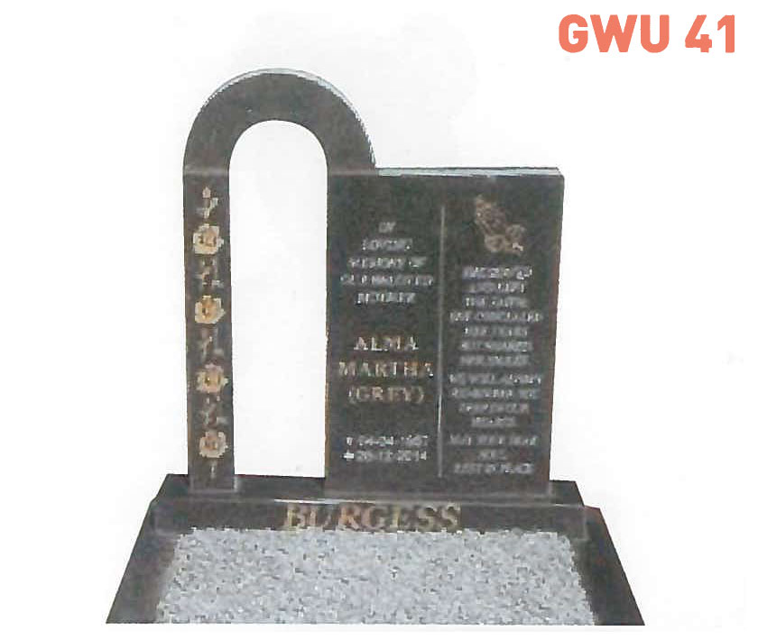 GWU 41 Tombstone | Jeudfra Funeral Services in Upington