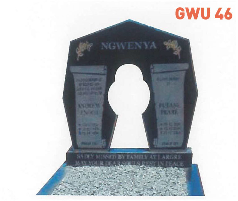 GWU 46 Tombstone | Jeudfra Funeral Services in Upington