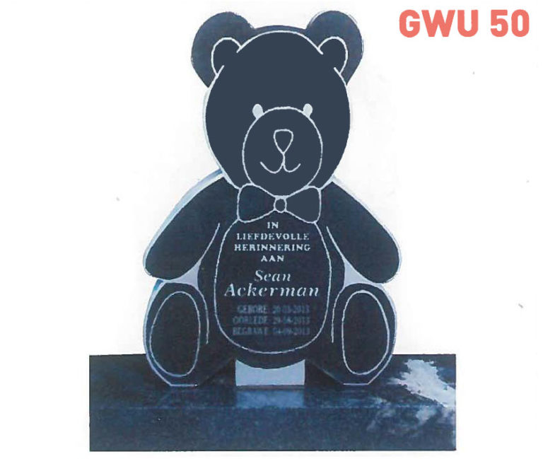 GWU 50 Tombstone | Jeudfra Funeral Services in Upington