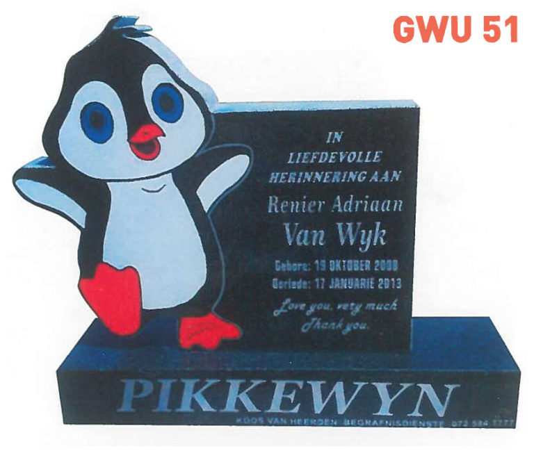 GWU 51 Tombstone | Jeudfra Funeral Services in Upington